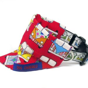 red campervan dog bandana