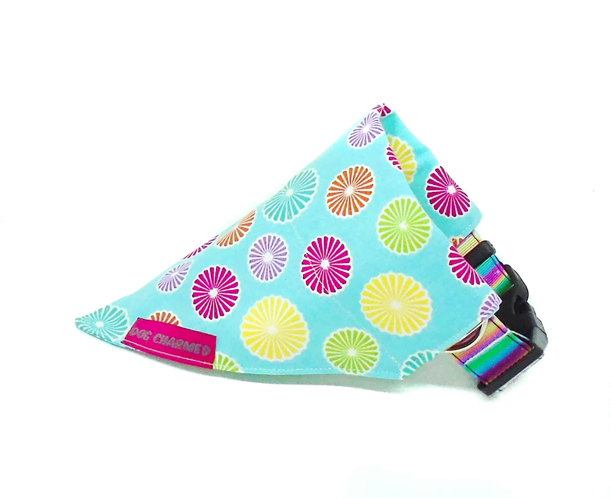 candy swirls dog bandana