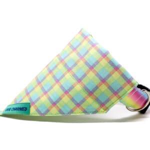 pastel checks dog bandana